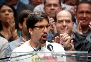Freddy Guevara, vice-presidente da Assembleia Nacional da Venezuela Foto: Carlos Garcis Rawlins / Reuters