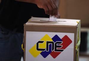 Urna da eleição da Assembleia Nacional da Venezuela em 30 de julho de 2017 Foto: Juan Barreto / AFP