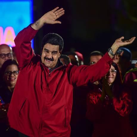 O presidente da Venezuela, Nicolás Maduro Foto: RONALDO SCHEMIDT / AFP