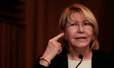 A destituída procuradora-geral da Venezuela, Luisa Ortega Diaz Foto: MARCO BELLO / REUTERS