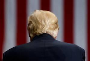 O presidente dos Estados Unidos, Donald Trump, critica Congresso por medidas que considera falhas contra a Rússia Foto: Jonathan Ernst / REUTERS