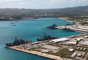 Porto de Apra, em Guam, hospeda base naval dos EUA Foto: HANDOUT / REUTERS