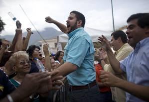 David Smolansky, prefeito de El Hatillo, condenado a 15 anos de prisão pelo Tribunal Superior de Justiça da Venezuela Foto: Ariana Cubillos / AP