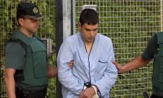 Mohamed Houli Chemlal, um dos quatro suspeitos de cometer os atentados na Catalunha Foto: STRINGER / AFP