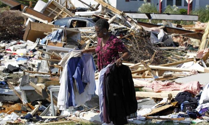 Estragos do furacão Irene Foto: John Bazemore / AP