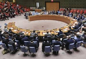 Plenário do Conselho de Segurança das Nações Unidas Foto: Bebeto Matthews / AP