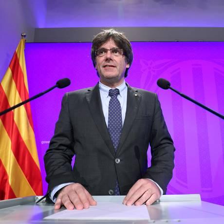 O chefe do governo catalão, Carles Puigdemont Foto: ALBERT GEA / REUTERS