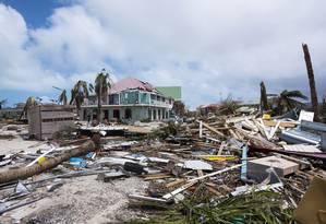 Furacão: destruição na ilha de Saint Martin Foto: LIONEL CHAMOISEAU / AFP