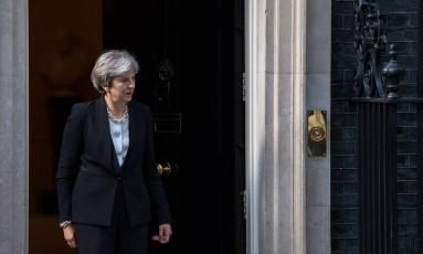 A premier britânica, Theresa May Foto: CHRIS J RATCLIFFE / AFP