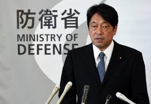 O ministro da Defesa do Japão, Itsunori Onodera Foto: TOSHIFUMI KITAMURA / AFP