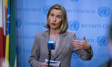 Chefe de política externa da União Europeia, Federica Mogherini Foto: Craig Ruttle / AP