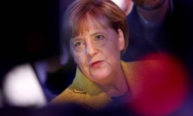 A chanceler alemã, Angela Merkel Foto: FABRIZIO BENSCH / REUTERS