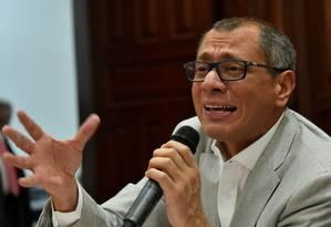 O vice-presidente equatoriano, Jorge Glas Foto: RODRIGO BUENDIA / AFP