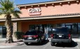 A loja 'Guns & Guitars', onde o atirador Stephen Paddock teria comprado armas na cidade em que morava, Mesquite, em Nevada