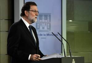 O presidente do governo da Espanha, Mariano Rajoy Foto: JAVIER SORIANO / AFP