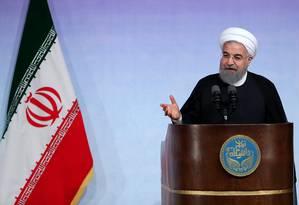 O presidente do Irã, Hassan Rouhani Foto: HO / AFP