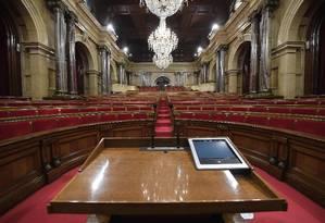 Plenário do Parlamento da Catalunha Foto: LLUIS GENE / AFP