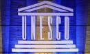 Logo da Unesco na sede da agência em Paris Foto: MIGUEL MEDINA / AFP