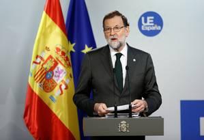 O presidente do governo da Espanha, Mariano Rajoy Foto: FRANCOIS LENOIR / REUTERS