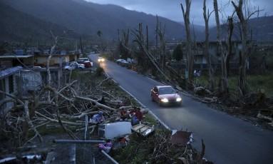 Destruição do furacão Maria em Yabucoa, Porto Rico Foto: Gerald Herbert / AP