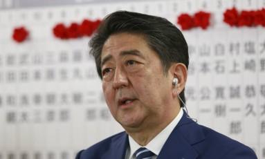 O primeiro-ministro do Japão, Shinzo Abe Foto: Shizuo Kambayashi / AP