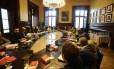 Reunião de líderes de partidos do Parlamento catalão Foto: IVAN ALVARADO / REUTERS