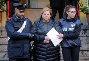 Mariangela Di Trapani, responsável por reorganizar a Cosa Nostra através de clã da máfia siciliana, é presa em dezembro Foto: ALESSANDRO FUCARINI / AFP