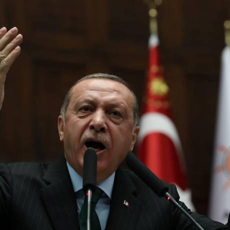 O presidente da Turquia, Recep Tayyip Erdogan Foto: UMIT BEKTAS / REUTERS