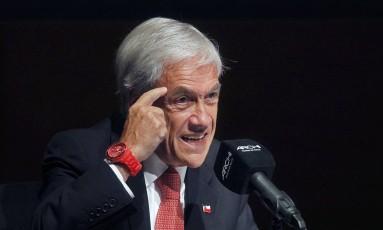 O candidato de direita à Presidência do Chile, Sebastián Piñera Foto: CLAUDIO REYES / AFP