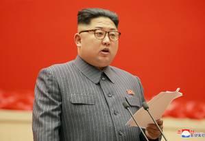 O líder norte-coreano, Kim Jong-un Foto: KCNA / REUTERS