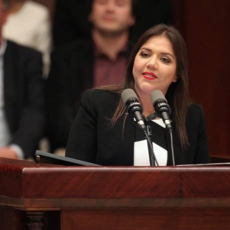 María Alejandra Vicuña, nova vice-presidente do Equador Foto: STRINGER / REUTERS