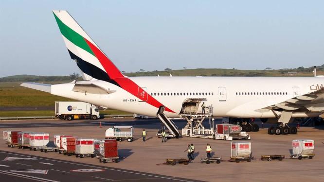 Em foto de arquivo, um Boeing 777-300ER da Emirates Airlines Foto: ROGAN WARD / REUTERS