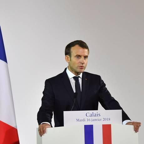 O presidente francês, Emmanuel Macron Foto: DENIS CHARLET / AFP