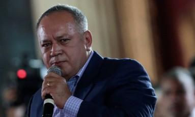Diosdado Cabello, integrante da Assembleia Nacional Constituinte na Venezuela e figura de peso do chavismo Foto: Marco Bello / REUTERS