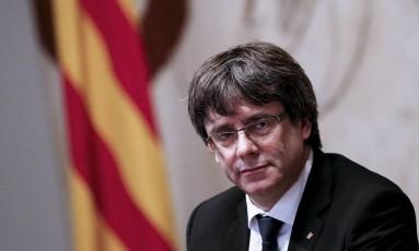 O líder separatista catalão Carles Puigdemont Foto: PAU BARRENA / AFP