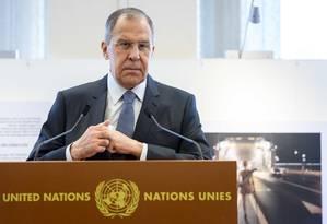 O ministro de Relações Exteriores da Rússia, Sergei Lavrov Foto: Martial Trezzini / AP