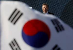 O presidente sul-coreano Moon Jae-in Foto: KIM HONG-JI / REUTERS