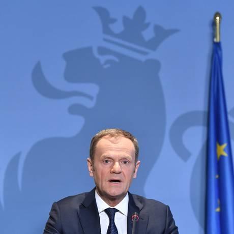 O presidente do Conselho Europeu, Donald Tusk Foto: EMMANUEL DUNAND / AFP