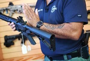 Bump Stocks, dispositivos que transformam armas normais em automáticas, serão proibidos. Foto: JIM WATSON / AFP