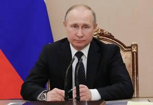 O presidente russo Vladimir Putin Foto: SPUTNIK / REUTERS
