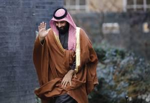 O príncipe herdeiro saudita, Mohammed bin Salman Foto: TOLGA AKMEN / AFP