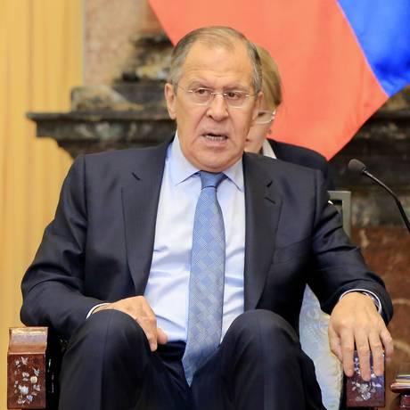 O ministro do Exterior russo, Sergei Lavrov Foto: POOL / REUTERS
