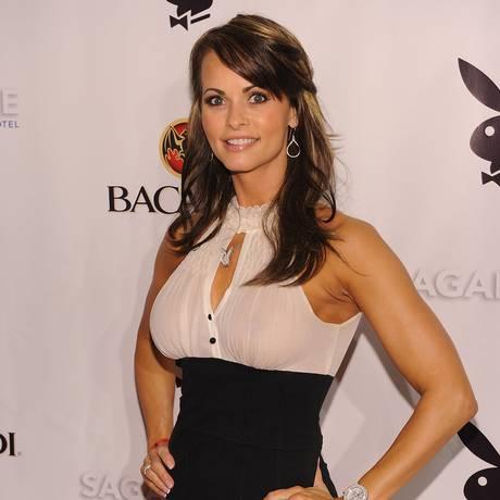 Ex-modelo da Playboy, Karen McDougal diz que manteve caso com Donald Trump em 2006 Foto: DIMITRIOS KAMBOURIS / AFP