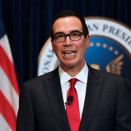 O secretário do Tesouro americano, Steven Mnuchin Foto: FREDERIC J,. BROWN / AFP