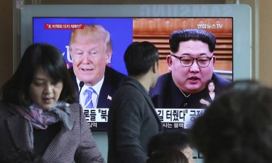 Donald Trump e Kim Jong-Un Foto: Ahn Young-joon / AP
