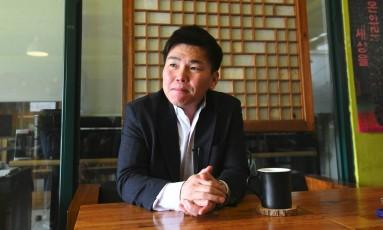 Joo Seung-hyeon, desertor norte-coreano que hoje vive na Coreia do Sul Foto: JUNG YEON-JE / AFP