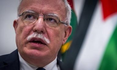 O ministro palestino de Assuntos Exteriore, Riyad al-Maliki Foto: LEX VAN LIESHOUT / AFP