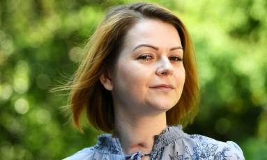 Yulia Skripal, vítima de envenenamento misterioso no Reino Unido, fala à imprensa pela primeira vez desde o ataque Foto: DYLAN MARTINEZ / AFP