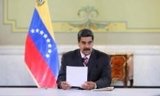 O presidente da Venezuela, Nicolás Maduro Foto: HANDOUT / REUTERS