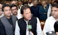 Imran Khan, ex-campeão de críquete, foi eleito como primeiro-ministro do Paquistão Foto: HANDOUT / REUTERS